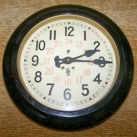 stary zegar dworcowy siemens - halske