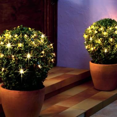 piękne świecące dekoracje do ogrodu i na taras