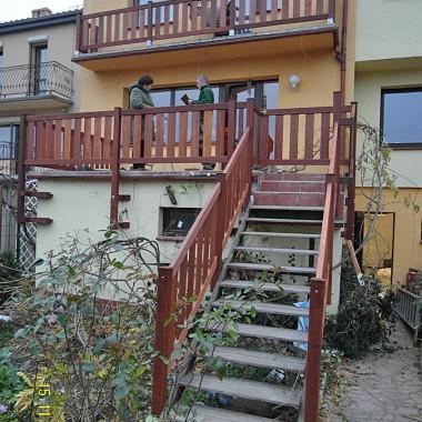 Realizacja w Zielonej Górze - barierki, przy schodach i tarasie