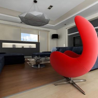 Projekt salonu apartament prywatny Kraków