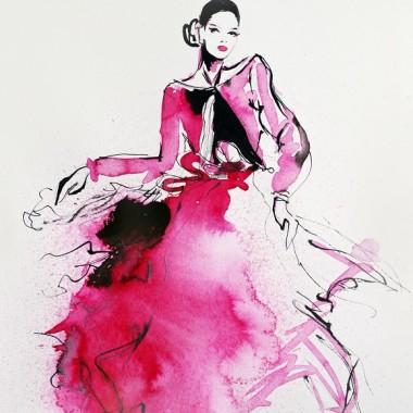 """Obraz na płótnie """"Red dress"""""""