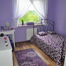 Moja fioletowa sypialnia