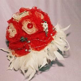Bukiet z kwiatów z  - mój bukiet ślubny