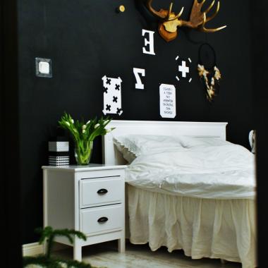 Sypialnia w lustrzanym odbiciu.