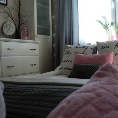 Sypialnia muśnięta różem na wiosnę :)