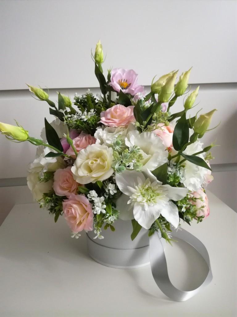 Dekoracje, Pracownia _COS_DLA_CIEBIE_ - Flower box w pastelowych kolorach