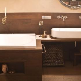 Drewno w łazience,nie tylko na podłodze