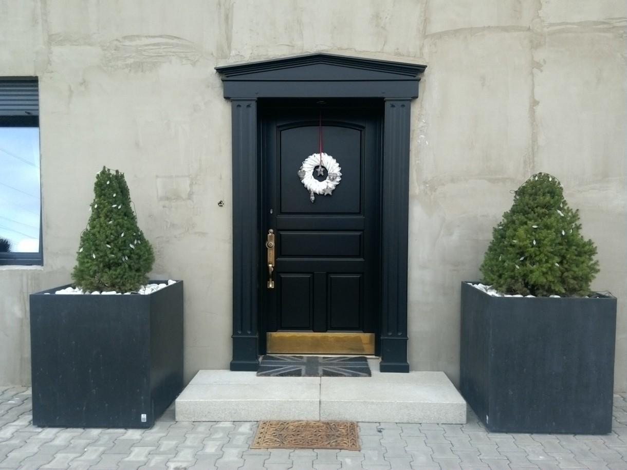 Okna i drzwi, Drzwi projekt własny - Drzwi gotowe, jeszcze tylko elewacja i zmiana kostki