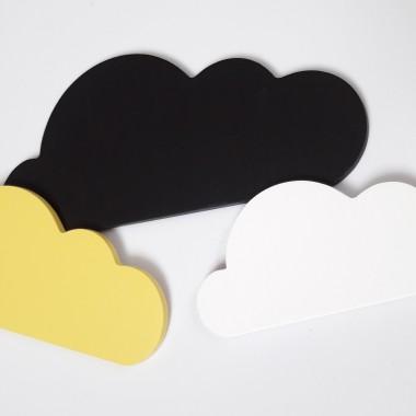 Chmurki drewniane - komplet 3 sztuki