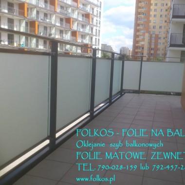 FOLIE MATOWE- Folie na balkony, okna łazienkowe, ścianki działow