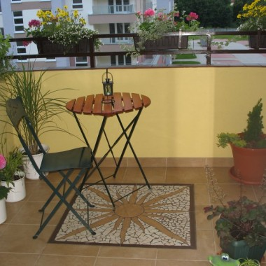 balkon, rośliny