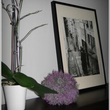 Mój salon z odrobiną fioletu...