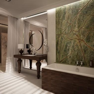 PROJKET WNETRZA|łazienka rain forest