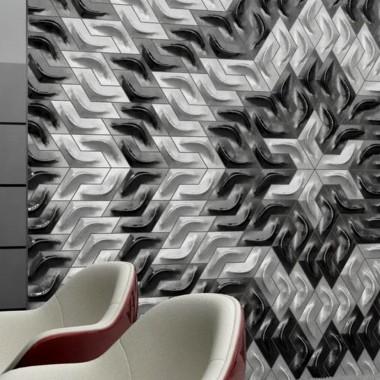 Aranżacje - płytki betonowe 3D