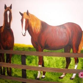 Stadnina koni na ścianie