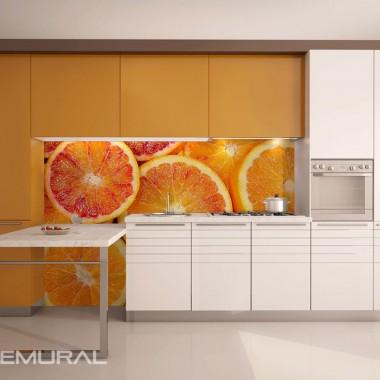 Soczyste cytrusy na ścianie - http://demural.pl/inspiracje/soczyste-cytrusy-na-scianie-fototapety-do-kuchni-fototapety-demural