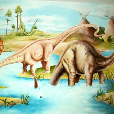 Dinozaury - pokój dziecięcy