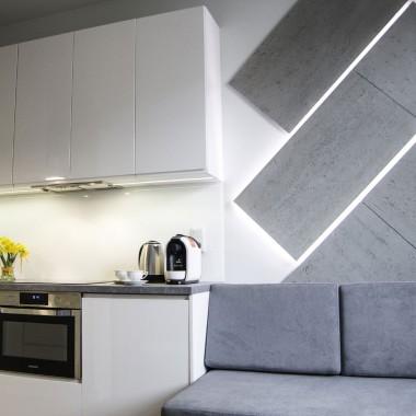 Mozaika podświetlana z płyt betonowych Luxum