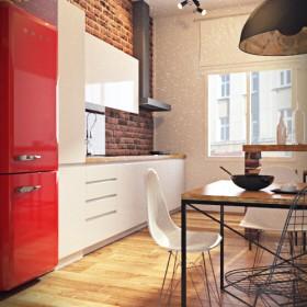 Kuchnia w starej kamienicy - Bydgoszcz (propozycja loftowa)