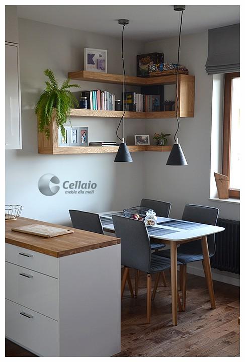 Jadalnia, Cellaio - półki na książki - Bardzo wytrzymałe na obciązenia (ok. 100kg/mb) półki na książki. www.facebook.com/cellaio
