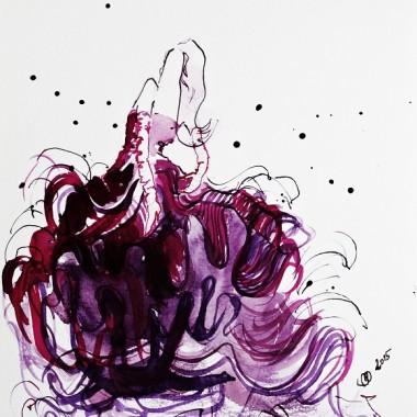 """Obraz na płótnie """"Purple dress"""""""
