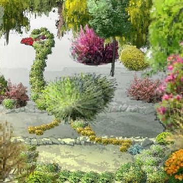 Całkeim sympatyczne projekty kompozycje ogrodów. Zabawne i interesujące :)