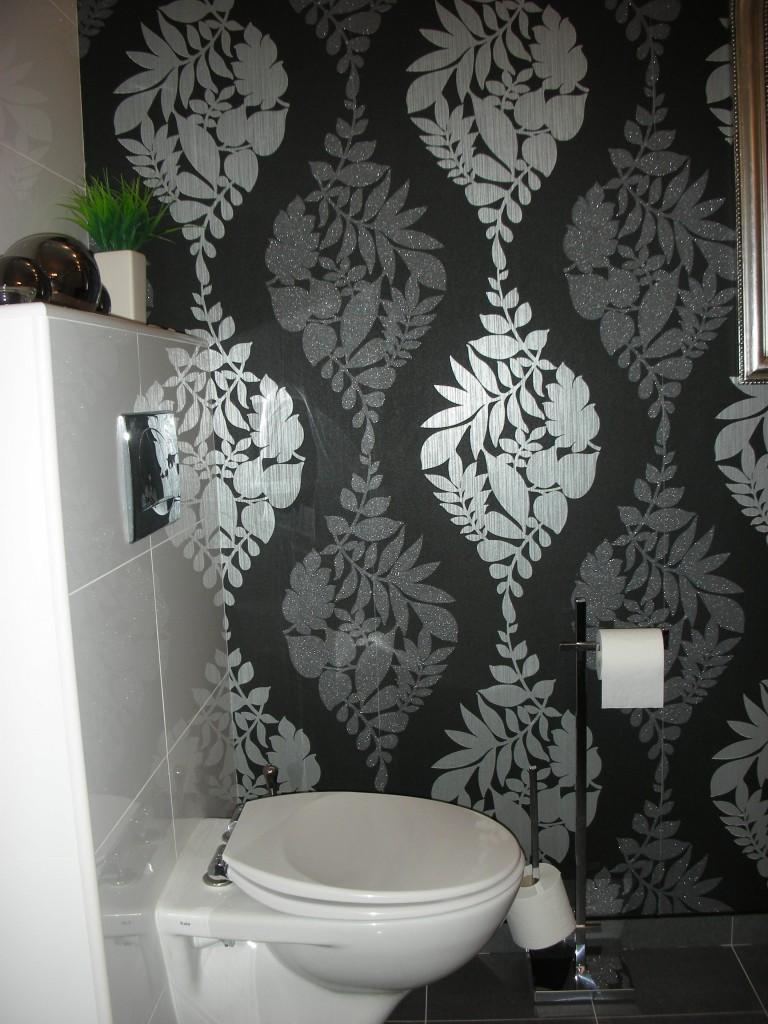 Zdjęcie 38 W Aranżacji łazienka Biało Szaro Czarna Deccoriapl