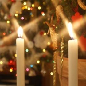 Przy blasku świec i światełek, aby nam wszystkim miło było.