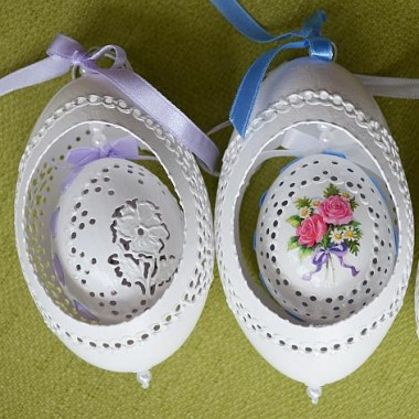 Ażurki pisanki- jajka ażurowe od Justyny podwójne
