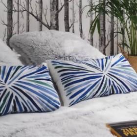 Metamorfoza sypialni z nową pościelą FÄRGRIK ELENCY ASHEN firmy Wendre