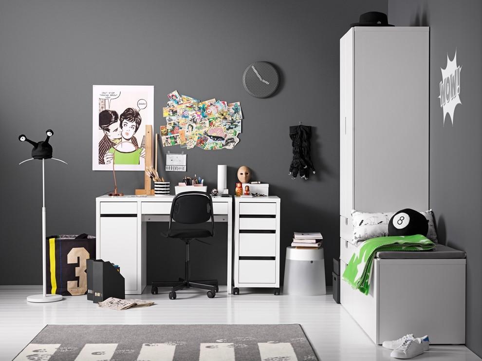 Gabinet, Biurko idealne - MICKE - Biurko, biały Cena: 249 PLN   http://www.ikea.com/pl/pl/catalog/products/20325296/#/80213074