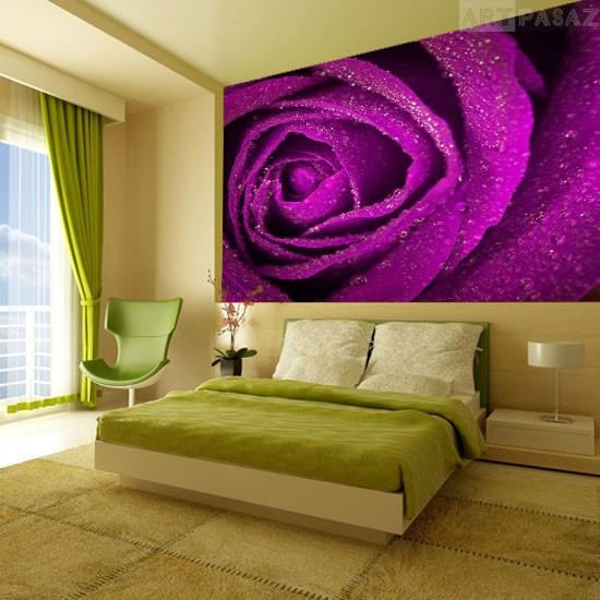 Pozostałe, fototapety kwiaty - fototapeta do sypialni z różą