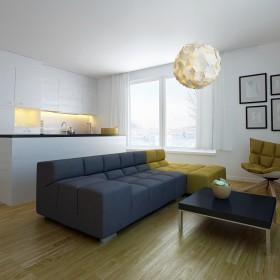 Projekt strefy dziennej- apartament prywatny
