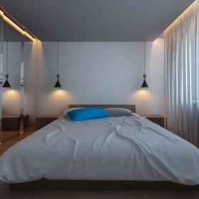 Projekt sypialni w błękicie