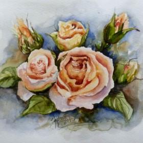 akwarele kwiaty C.D.