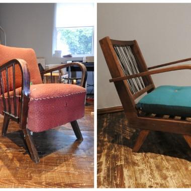 fotel przed i po renowacji