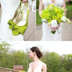 Ślubne inspiracje - róż - zieleń