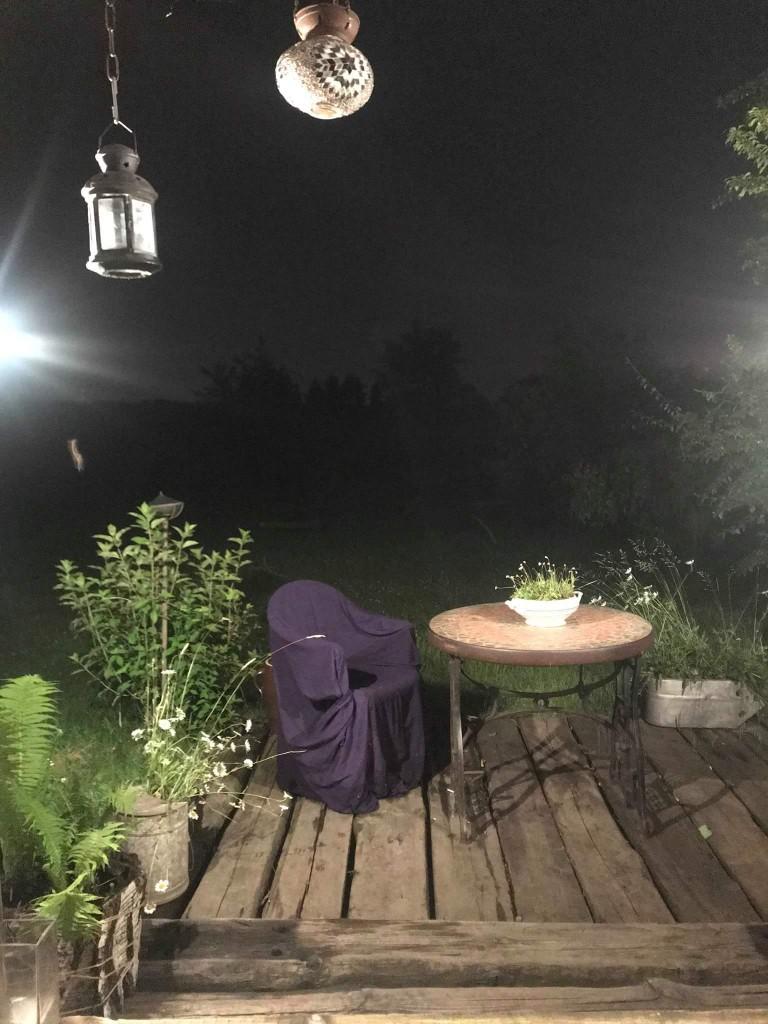 Taras, 2018 w ogrodzie