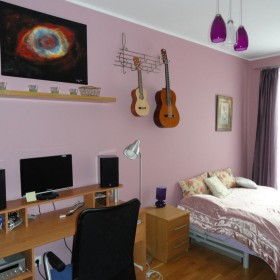 gabinet i sypialnia w jednym