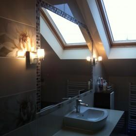 ...łazienka z fioletowymi dodatkami &#x3B;*