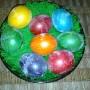 Jadalnia, Przymiarka z zajączkami - pisanki z ubiegłego roku (kryształki)