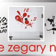 Zegary ścienne - kolorowe naklejki z zegarem na ścianę / NaklejkiOzdobne