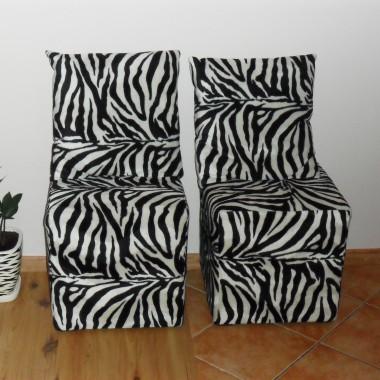 Doniczka ręcznie malowana w zebrę i pufki zebrowe:)