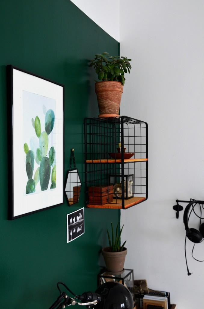 Gabinet, zielono w biurze