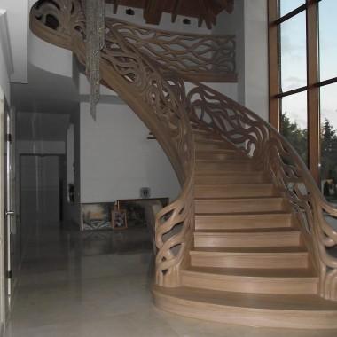 Schody gięte, schody pałacowe  Legar