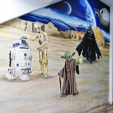 artystyczne malowanie ścian, malowidła ścienne, malunki na ścianie, pokój dziecięcy, pokój dla dziecka, pokój dla dziewczynki, pokój dla chłopca, dekoracja ścian, Gwiezdne wojny, Star Wars