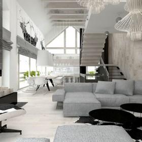 Architektura wnętrz domu jednorodzinnego.
