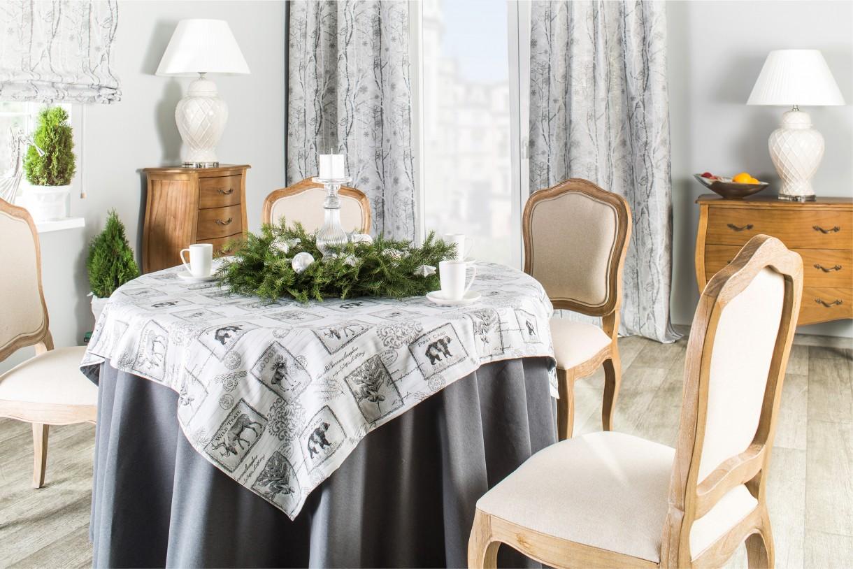 Pozostałe, Świąteczne inspiracje - Srebna zimowa jadalnia - jesteście na tak czy nie? :)