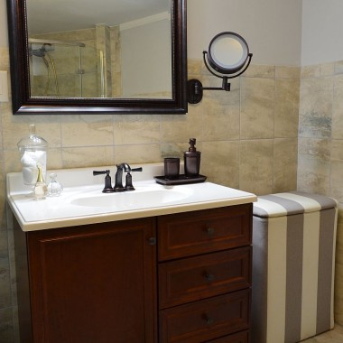 Łazienka zrobiona na szaro