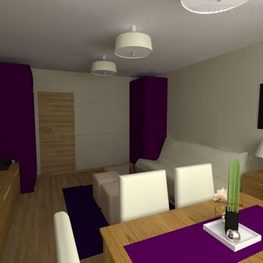 Salon w niedużym mieszkaniu w bloku w gliwicach